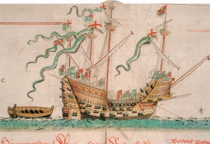 The Mary Rose, from the Anthony Roll.
