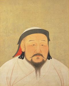 Portrait of Kublai Khan, born 1215 and whose dominions were vividly portrayed by Marco Polo.