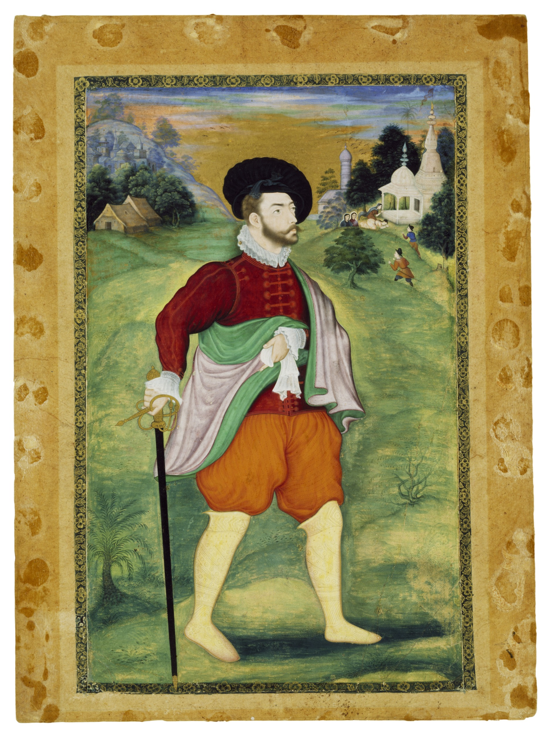 17th Century Indian Portrait of a European