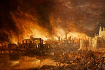 The Great Fire of London (1666). Started by Catholic Terrorists, obviously.