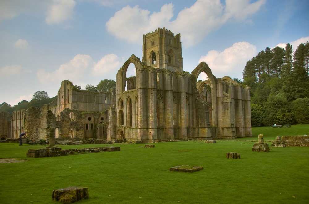 Fountains Abbey. Nice tea shop, shame about the roof.