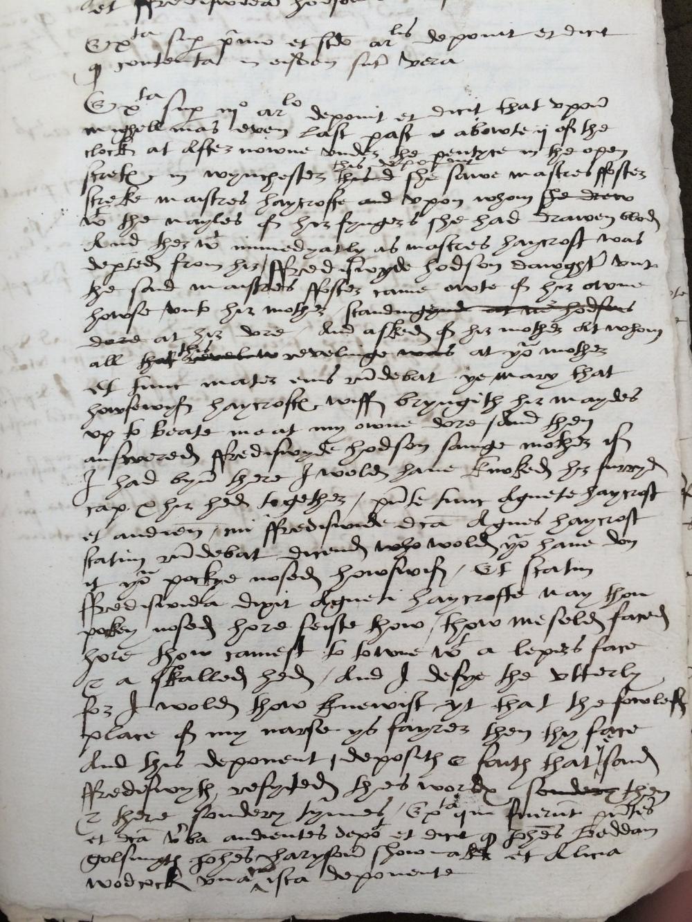 Key Testimony, Winchester 1544